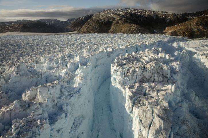 Greenland, a glacier