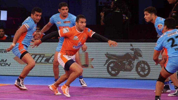He is part of Puneri Paltan in the Pro Kabaddi League.