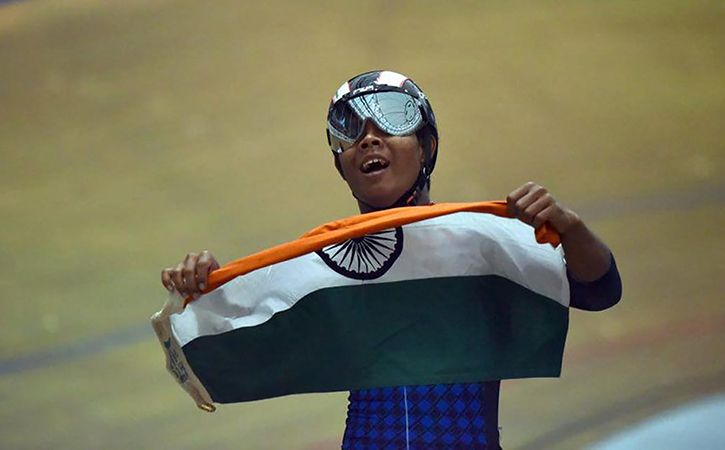 India Finish With 12 Gold Medals At Track Asia Cup
