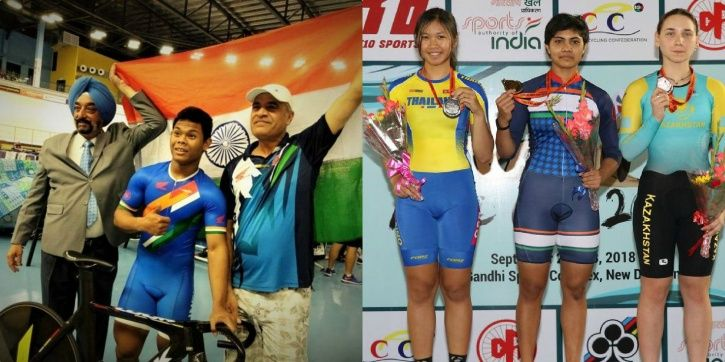 India won 6 gold medals in Track Asia Cup