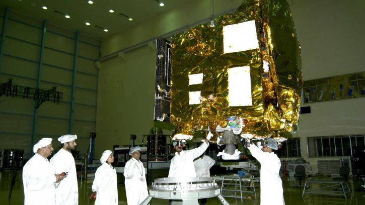 ISRO Mars Orbiter Mission Mangalyaan before it was launched into space