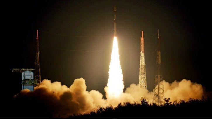 isro satellite launch in space