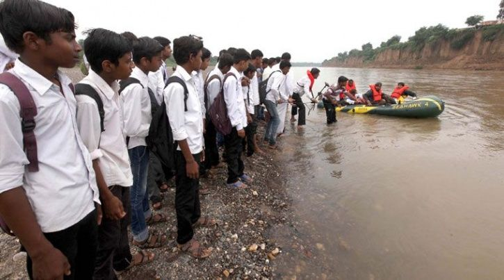 Madhya Pradesh, education, Mehgaon, secondary school, river, forest, bridge