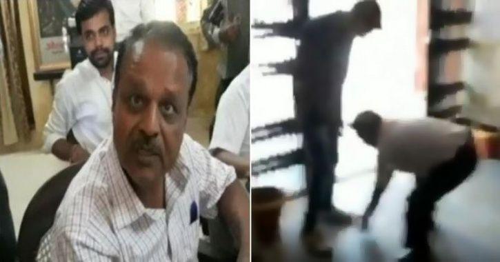 MP Professor Touches Feet Of ABVP Men
