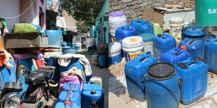 New Delhi, Gulshan Chowk, Anand Parbat Industrial area, water crisis, Ramjas foundation, DDA