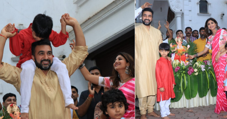 Shilpa Shetty Bids Farewell To Lord Ganesha With Reverence, Gracefully Dances In A Pink Saree