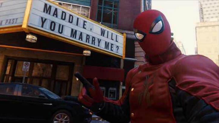 spider man game hidden easter egg marriage proposal