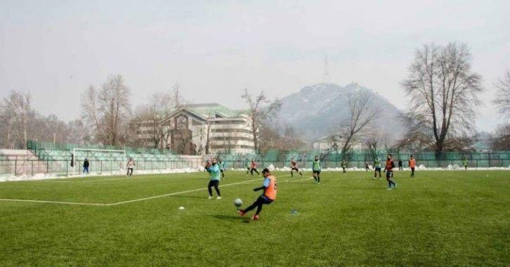 Srinagar, Bakshi stadium, International football, Jammu and Kashmir, exposure, 50 crore