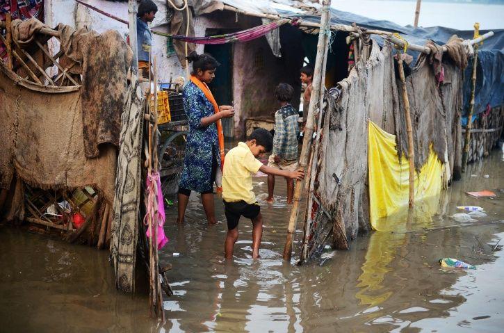 three children, Ganga, Yamuna, rainwater, Uttar Pradesh, Kanpur, Farrukhabad