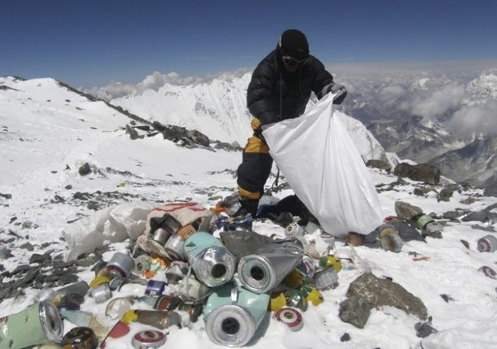 A total of 3,000 kilogrammes of solid waste has been collected from Mt Everest