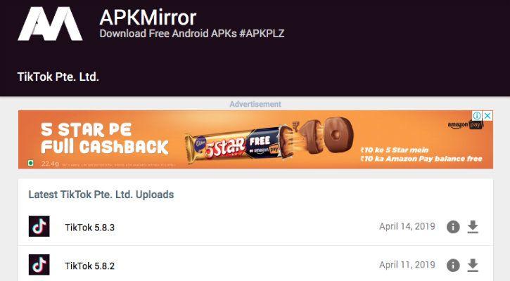 APK Mirror TikTok ban