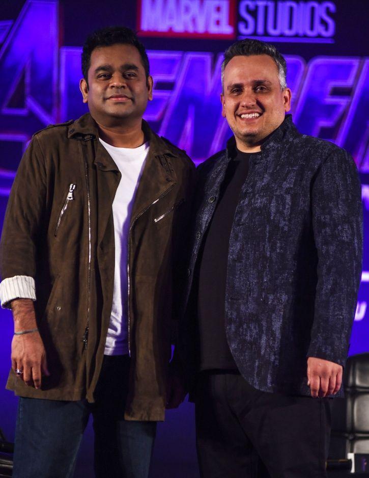 AR Rahman with Avengers Endgame co-director Joe Russo.