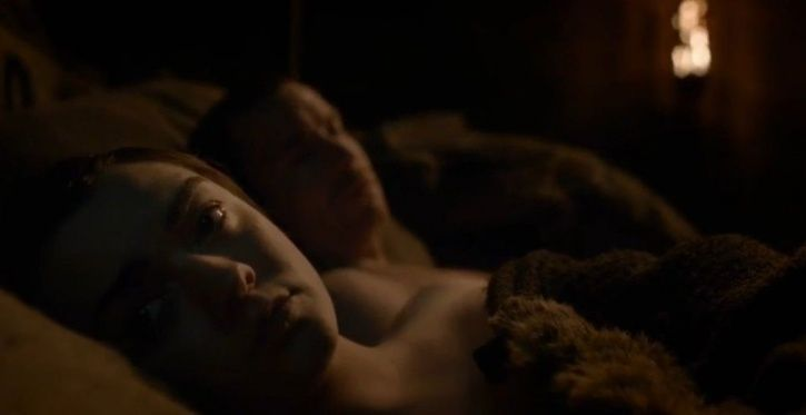Arya Stark Gendry sleep with each other on game of thrones. q