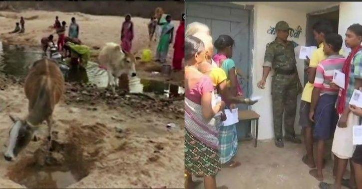 Chhattisgarh, Charchari village, pond, water, villagers, Balrampur, elections