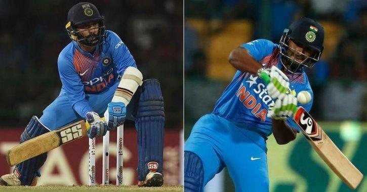 Dinesh Karthik and Rishabh Pant