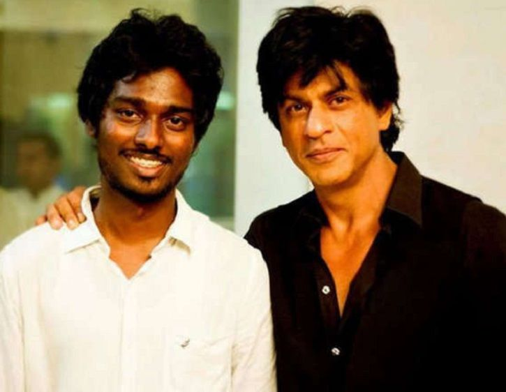 Director Atlee Kumar with Shah Rukh Khan. Is Mersel remake on cards?
