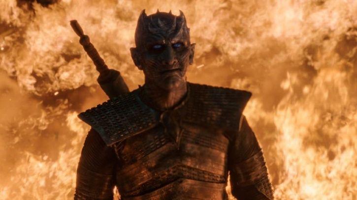 Game of Thrones season 8: Night Kings smirk.
