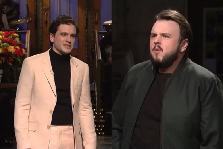Kit Harington shaved off his beard and stripped on Saturday Night Live (SNL).