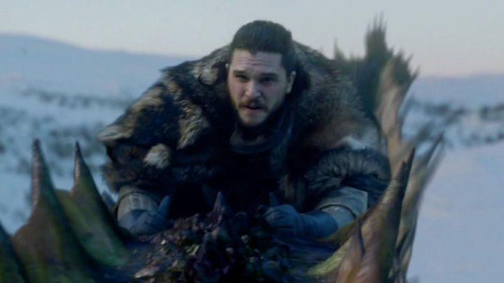 Kit Harington talks about how his testicle got stuck filming the dragon scene.