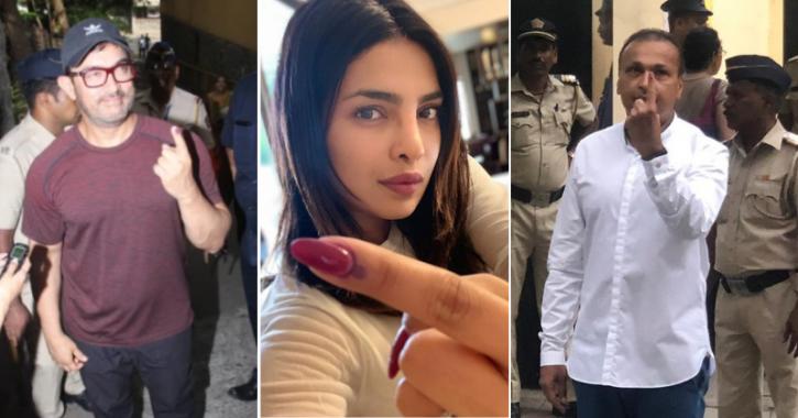 Mumbai voting: Bollywood celebs cast their vote for Lok Sabha elections.