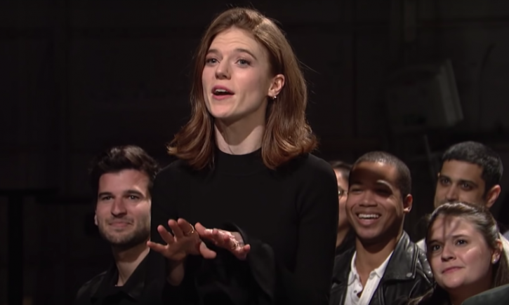 Rose Leslie: Kit Harington shaved off his beard and stripped on Saturday Night Live (SNL).