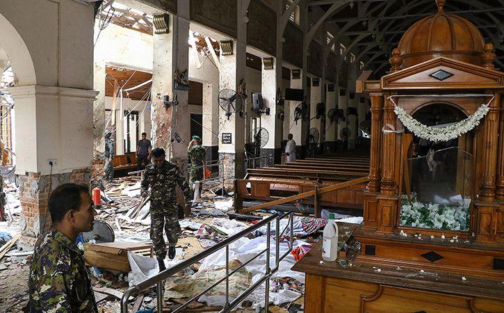 sri lanka release picture of blast suspects