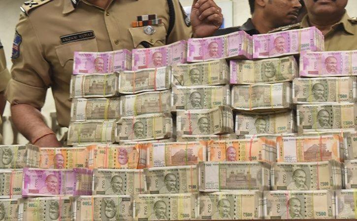telangana cops seize 8 crore rupees