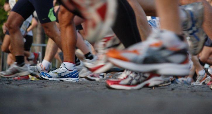 The runner finished the half-marathon