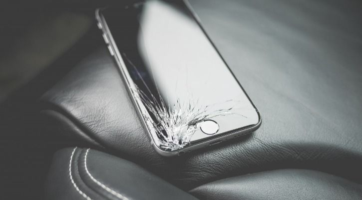 cracked screen protector