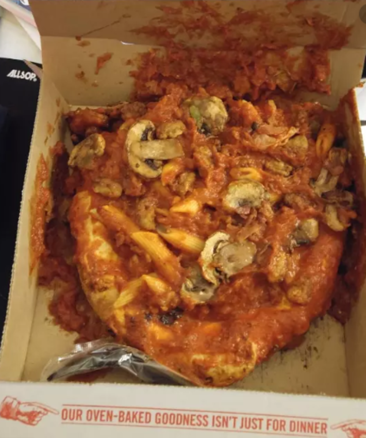 Pizza delivery fails