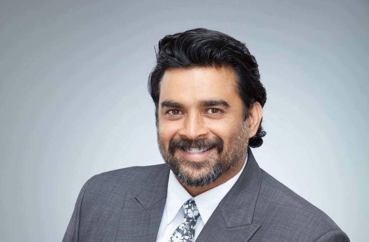 R Madhavan smiling.
