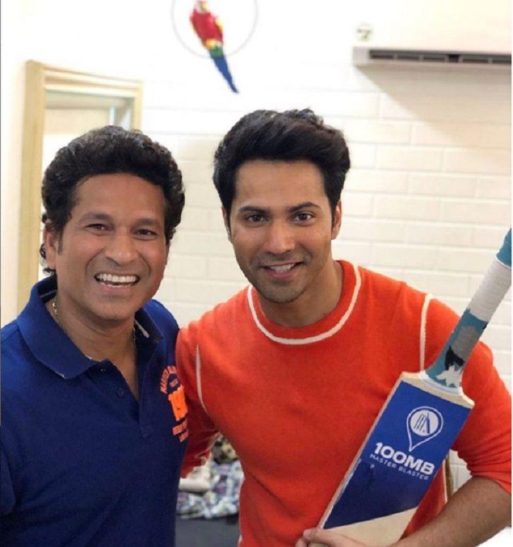 Sachin Tendulkar and Varun Dhawan.