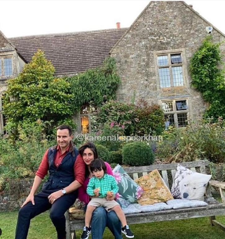 Saif and Kareena with Taimur in London.