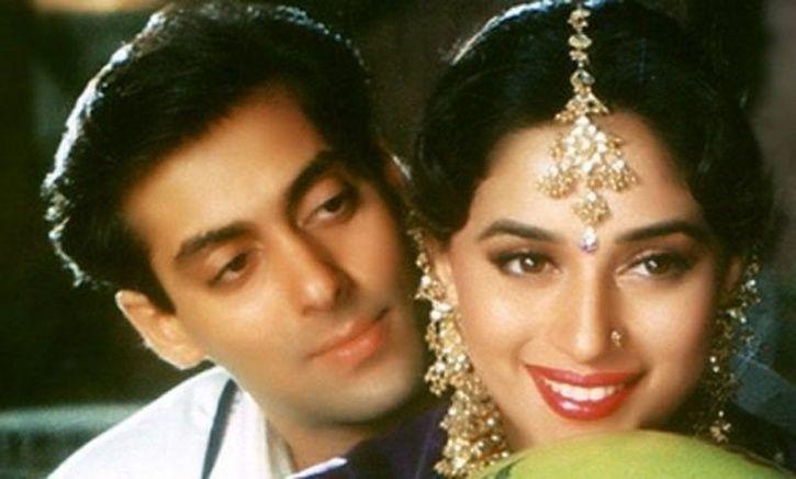 Salman Khan and Madhuri Dixit in Hum Aapke Hain Koun.