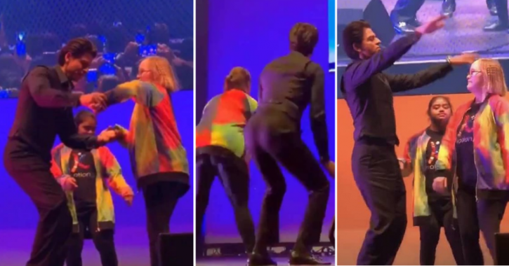 Shah Rukh Khan dancing with special kids at Indian Film Festival of Melbourne.