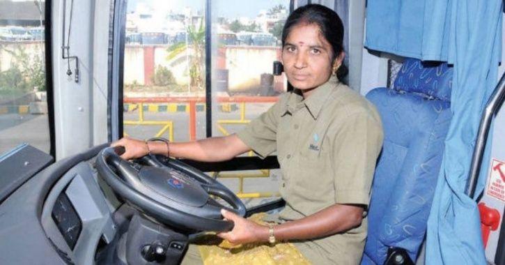 Woman bus driver