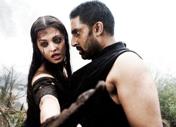 Aishwarya Rai and Abhishek Bachchan in Mani Ratnam