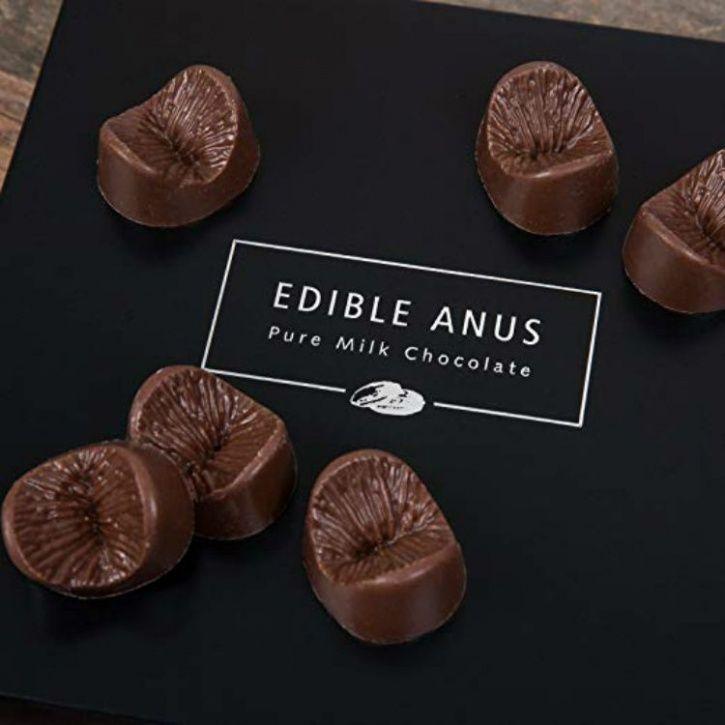 anus chocolates, anus shaped chocolates, butthole chocolates, butt shaped chocolates, butt holes