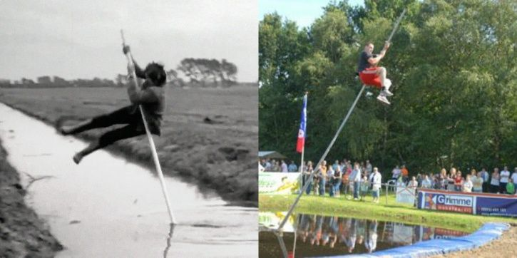 Canal jumping has a history