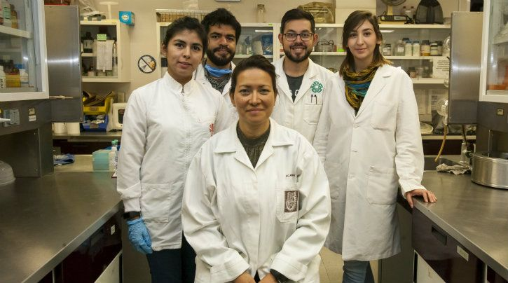 Dr Eva Ramón Gallegos (center) with her team / National Polytechnic Institute