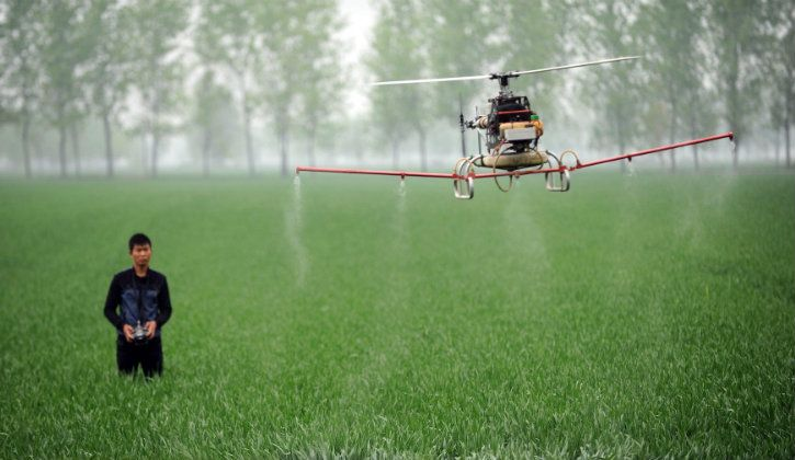 drone farmer developed by students of lovely professional university