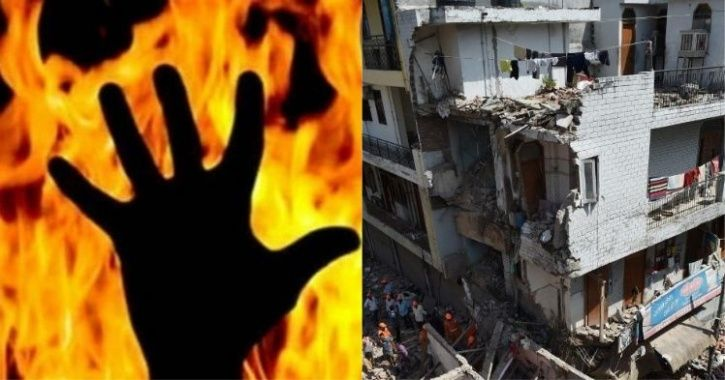 Ghaziabad, house fire, kids, four kids, pregnant woman, mother, Fatima, cylinder, LPG, Fire