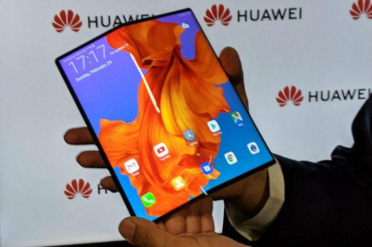 huawei mate x foldable screen smartphone mwc 2019