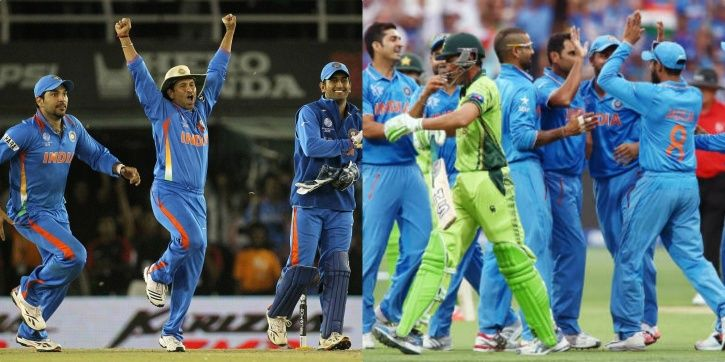 India have beaten Pakistan 6 times in World Cup