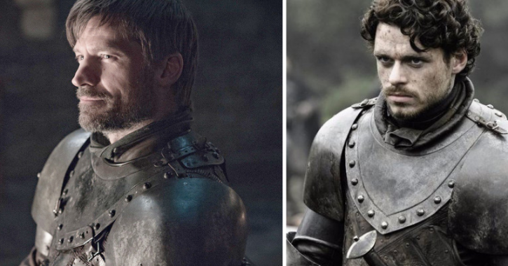 Jaime Lannister Wearing Robb Stark's Armour in new Game of thrones season photos.