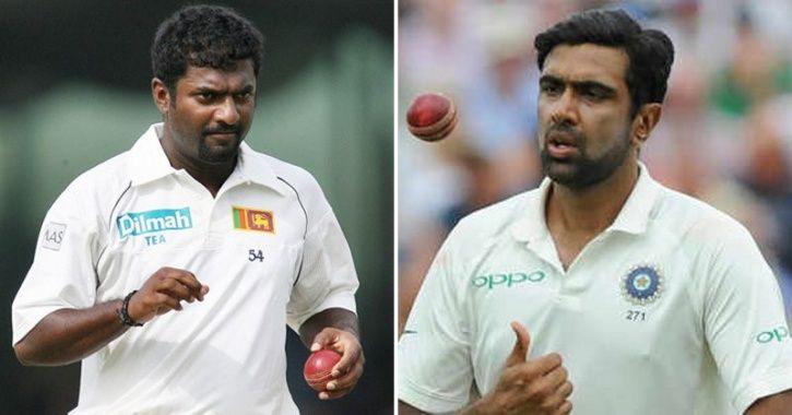 Muttiah Muralitharan and  Ravichandran Ashwin