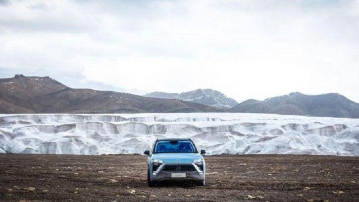 Nio ES8, Chinese Electric Car, Nio ES8 Guinness World Record, Highest Electric Car Climb, Technology