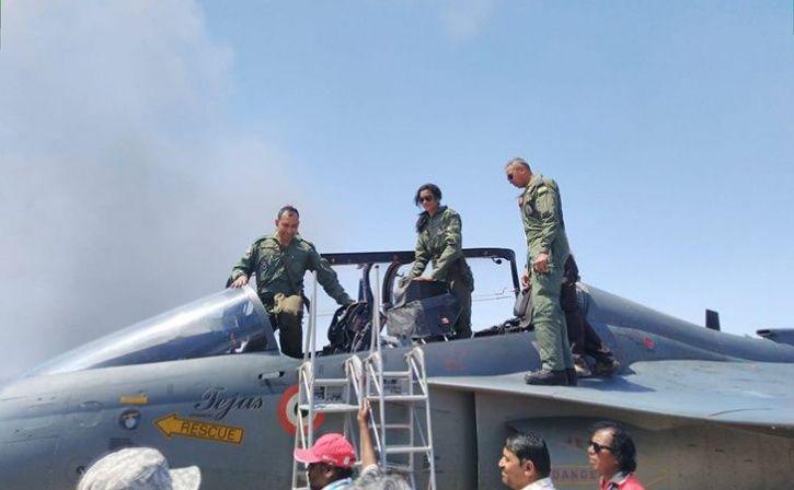 PV Sindhu Flies Tejas At Bengaluru Air Show