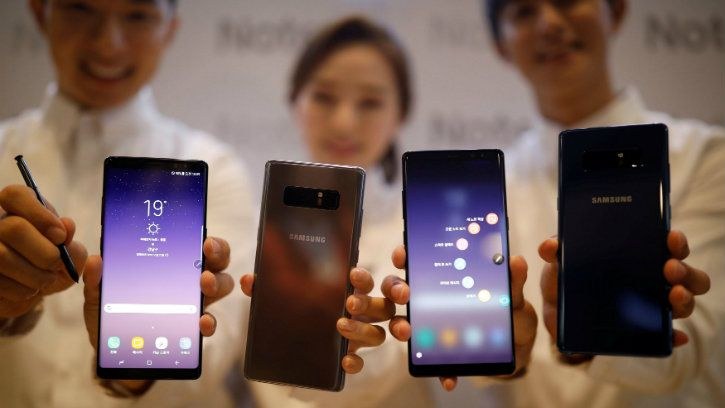 samsung galaxy note 8 is phone with lowest radiation emission