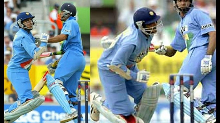 Sourav Ganguly was run out